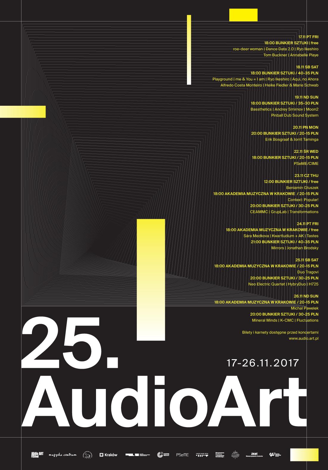 """25. Audio Art """"Bassthetics"""" Bożek/Mazur 19.11.2017 Bunkier Sztuki Kraków 18:00"""